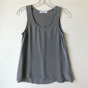 Everlane The Silk Tank Top Gray #850